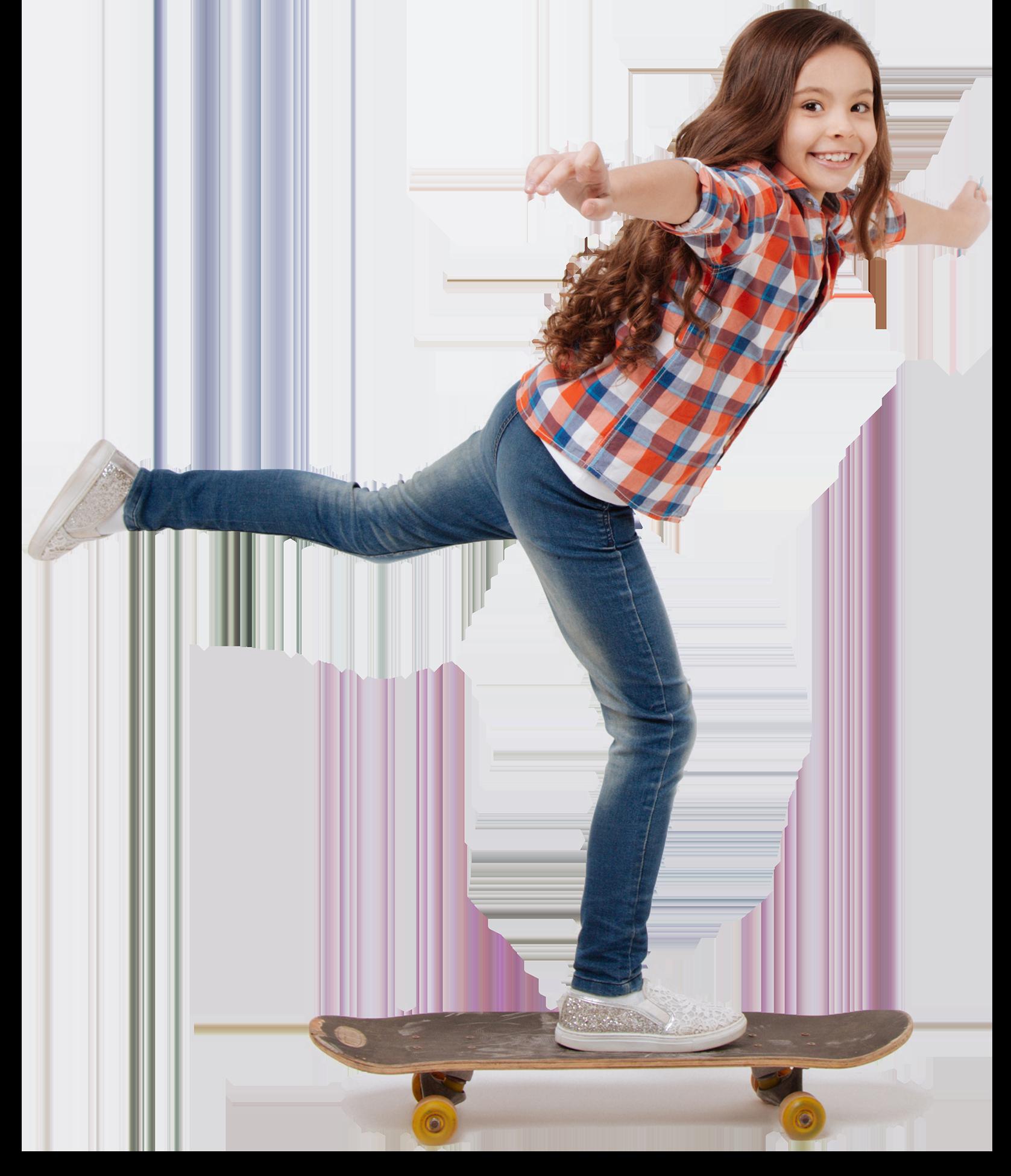meisje op skateboard, ze rolt door het leven